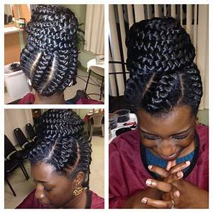 Big Cornrow Braids In A Buns Styles   Protective Hairstyles
