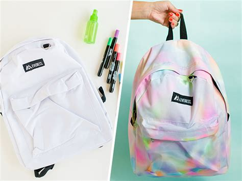 This Diy Rainbow Watercolor Backpack Is So Cool For School