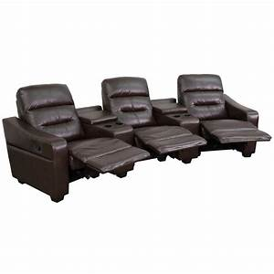 flash furniture futura series 3 seat reclining brown With flash furniture home theater seating