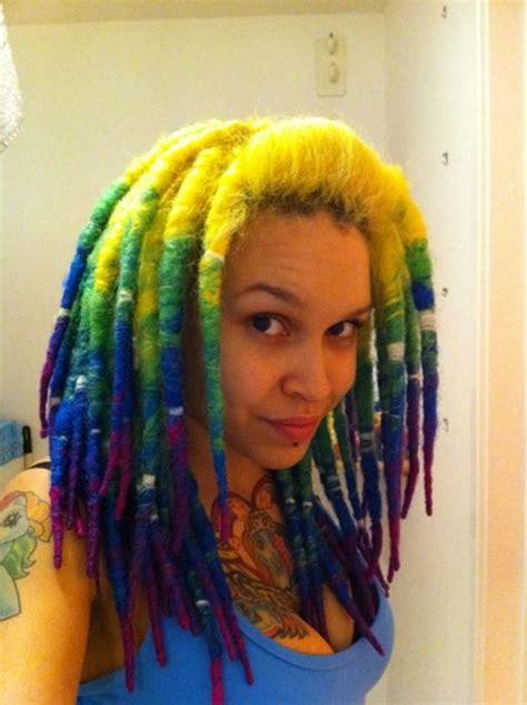 Dip Dye Dreads Bold Hair Color Dreads Natural Dreadlocks
