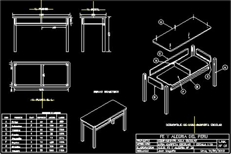 table   drawers  dwg detail  autocad designs cad