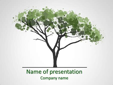 water colors tree powerpoint template backgrounds id