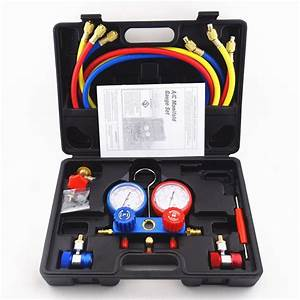 Kit Recharge Clim R134 : air conditioning manifold gauges tool set ac refrigeration kit car auto r134a ebay ~ Gottalentnigeria.com Avis de Voitures