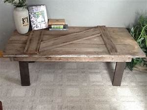 Best 25 barn door tables ideas on pinterest barn door for Rustic door coffee table
