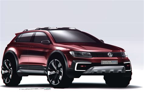 Volkswagen Car : Volkswagen Introduces Tiguan Gte Active Concept