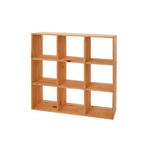 table cuisine largeur etagère cube modulo 9 cases pin massif meubles en pin