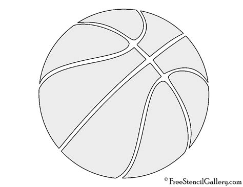 basketball template basketball stencil free stencil gallery