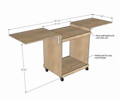 Miter Saw Plans Stand Simple Pdf Woodworking