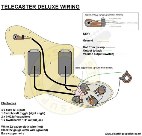 Telecaster Deluxe Wiring Diagram Electric Guitars