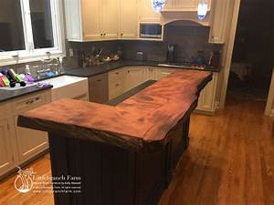 Natural wood countertops Littlebranch Farm