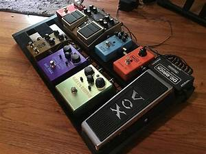 Loaded Electric Guitar Effects Wired Pedalboard