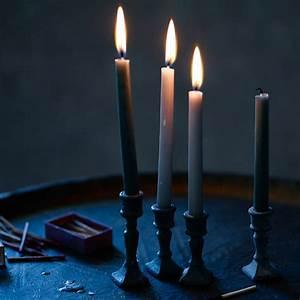 Mini, Taper, Candles, Set, Of, Ten, Taupe, By, Rowen, U0026, Wren