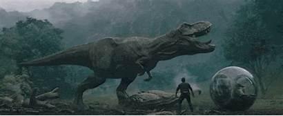 Jurassic Kingdom Fallen Dinosaurs Lava Behind Rex