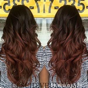 Ombré Hair Rouge : balayage rouge sur brune ~ Melissatoandfro.com Idées de Décoration