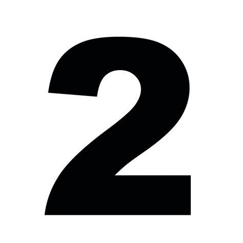 black accent cijfer 2 lettertype standaard als in voorbeeld