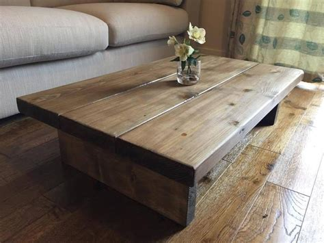chunky rustic coffee table mk oak stain solid wood