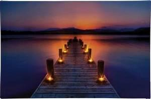 Bilder Mit Led : led bild steg mit morgenrot led amber heitronic morgenrot ~ Kayakingforconservation.com Haus und Dekorationen