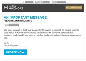 hilton hotels email so much like phishing it fooled its
