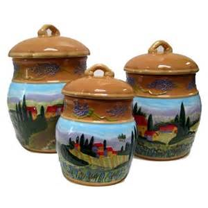 tuscan kitchen canisters sets set of 3 casa tuscan countryside raised ceramic canisters kitchen storage