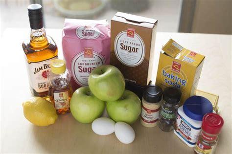 honey ginger cake  whiskey caramelized apples
