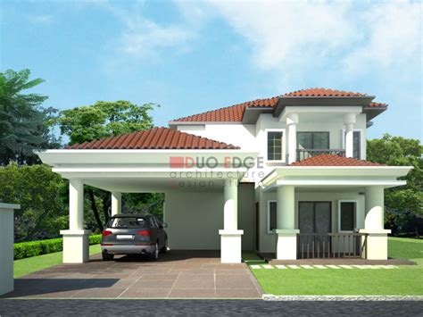 house porch side view home design bungalows plans and designs fortable malaysia