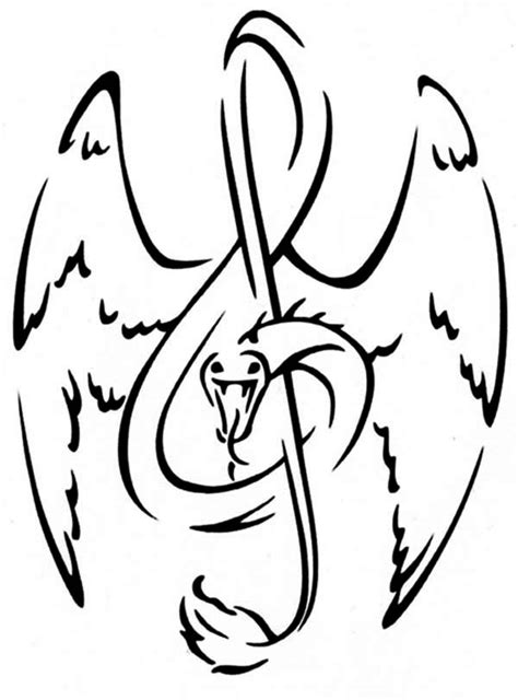 treble clef  snake tattoo coloring page color luna