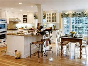 Country kitchen design home interior design for Kitchen decorating ideas for the kitchen island