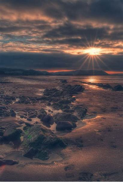 Wallpapers Parallax Beach Sunset Nature Iphone Papers
