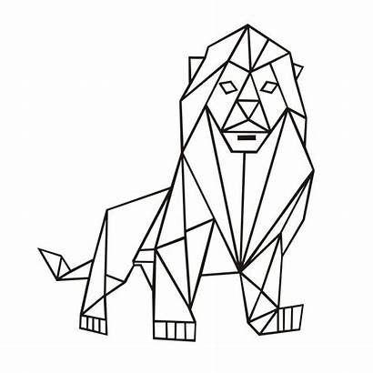 Geometric Lion Drawing Geometry Wall Living Clipartmag
