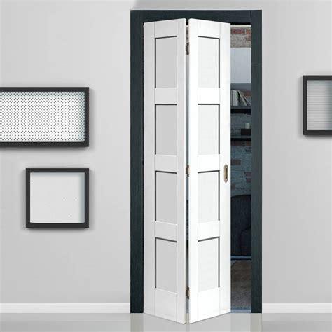 Stylish Home Interiors - shaker white primed 4 panel bifold door shaker style panel doors