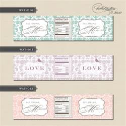 water bottle labels for wedding belletristics stationery design and inspiration for the diy new address label and water