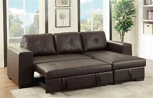 sectional sofa w pull out bed storage reversible chaise With leather sectional sofa with pull out bed
