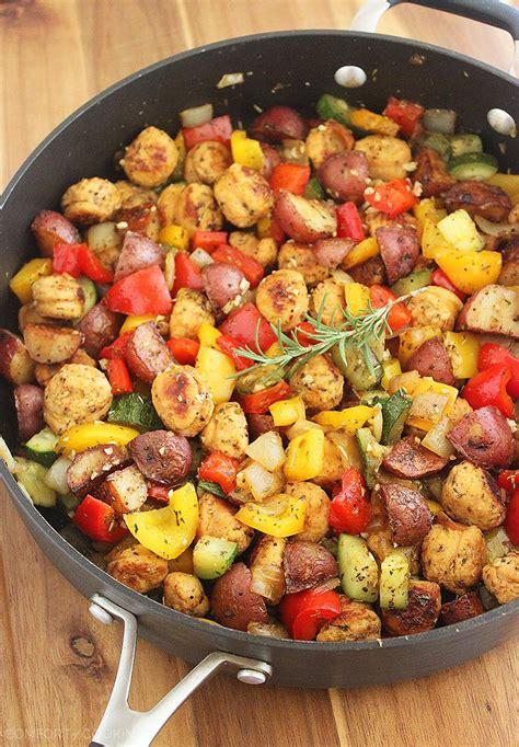 sausage potato skillet summer vegetable sausage and potato skillet