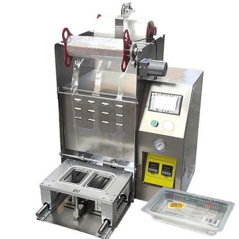 automatic tofu tray top heat sealing machinedesktop automatic plastic food tray sealing film