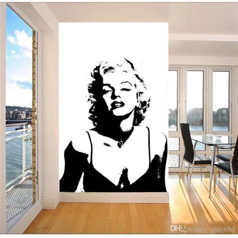 sexy marilyn monroe wallpaper black  white wall mural