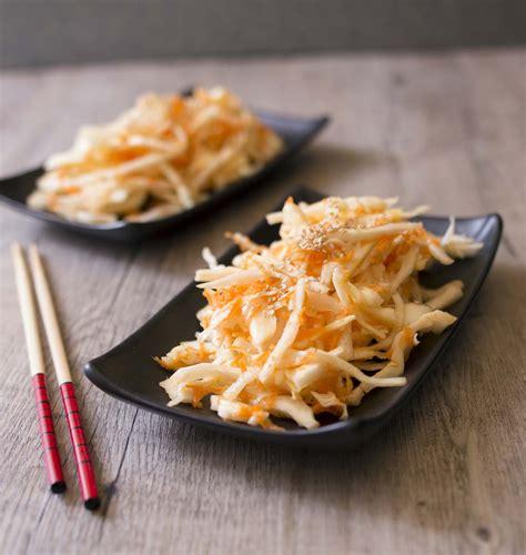 recettes cuisine chinoise salade de chou et carotte à la japonaise les meilleures