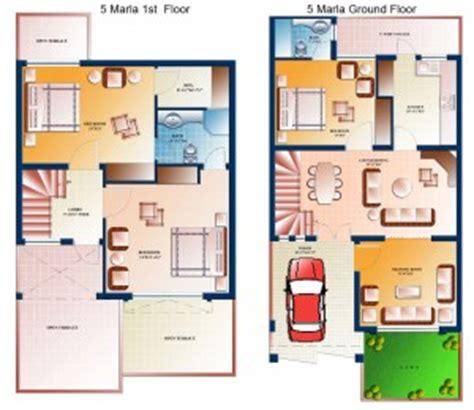 marla house plans civil engineers pk