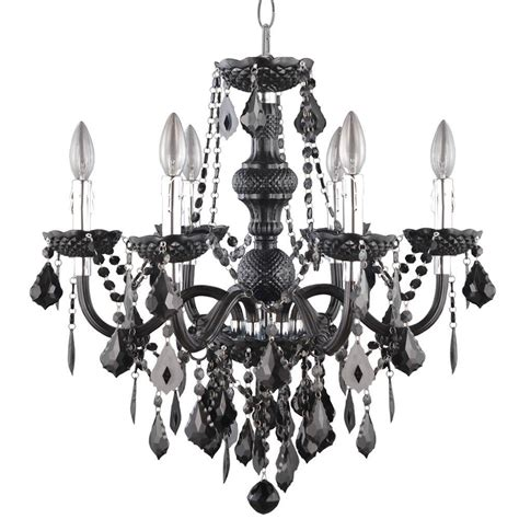 Black Chandeliers by Hton Bay 6 Light Chrome Theresa Chandelier With