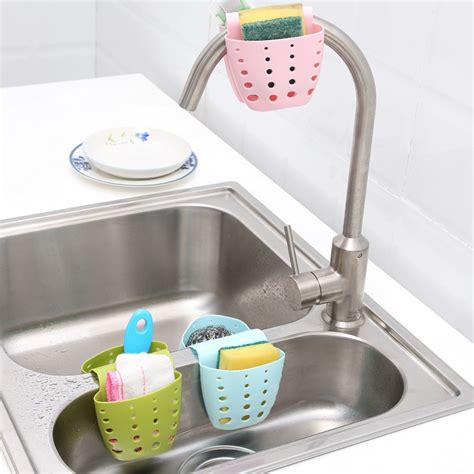 kitchen storage gadgets kitchen portable hanging drain bag basket bath storage 3148