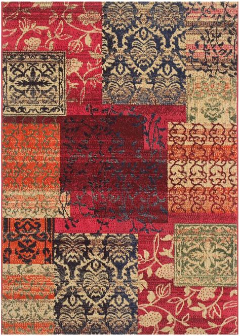 safavieh collection safavieh monaco collection mnc211f multicolored area rug
