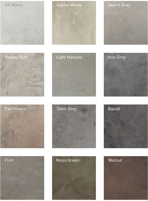 Recommended Polished Concrete Colours   For the Home