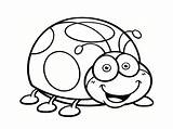Coloring Insects Pages Simple Children sketch template