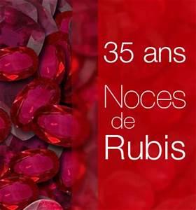 Cadeau Homme 35 Ans : noces de rubis 35 ans de mariage ~ Nature-et-papiers.com Idées de Décoration