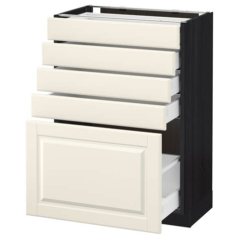 ikea cabinet drawers metod maximera base cabinet with 5 drawers black bodbyn