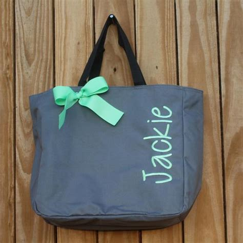 personalized bridesmaid gift tote bags embroidered tote
