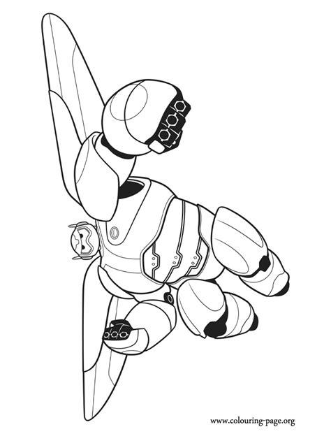 big hero  baymax  combat robot coloring page