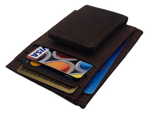 Minimalist front pocket wallets normally have specially designed pockets for visiting cards, credit cards, id cards, etc. Mens Leather Money Clip Slim Front Pocket Magnetic ID Credit Card Wall - AG Wallets