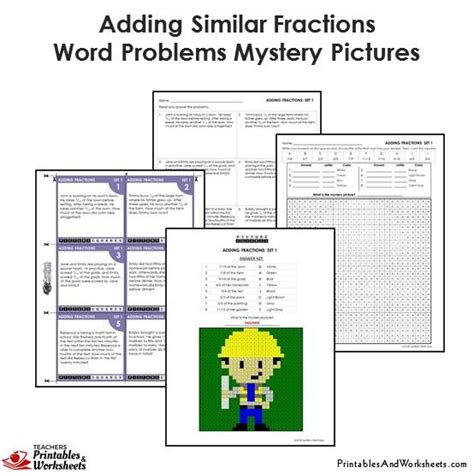 adding fractions word problems with unlike denominators