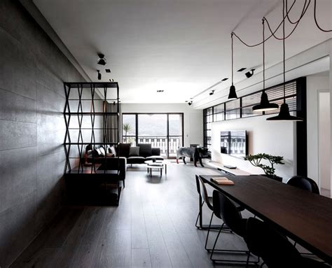 dark  moody apartment interior interiorzine