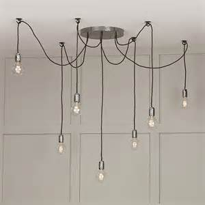 7 light cluster ceiling pendant hang lights using individual hooks